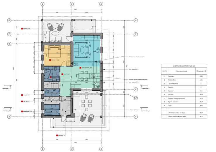 План 1-ого этажа:  в . Автор – НБ_Частный Девелопмент