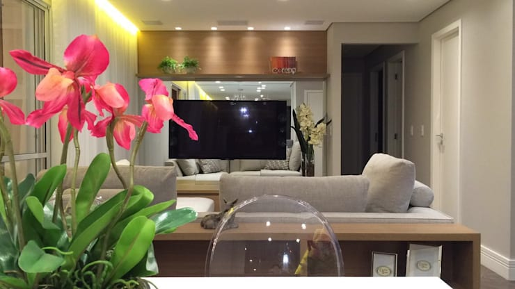 Salon de style  par Angelica Hoffmann Arquitetura e Interiores, Moderne