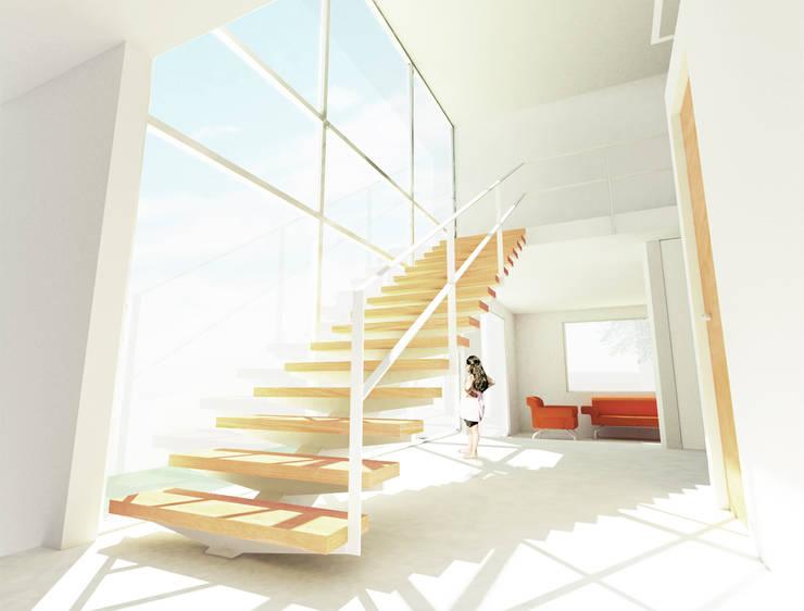 Interior Casa: Pasillos y recibidores de estilo  por HMJ Arquitectura, Minimalista