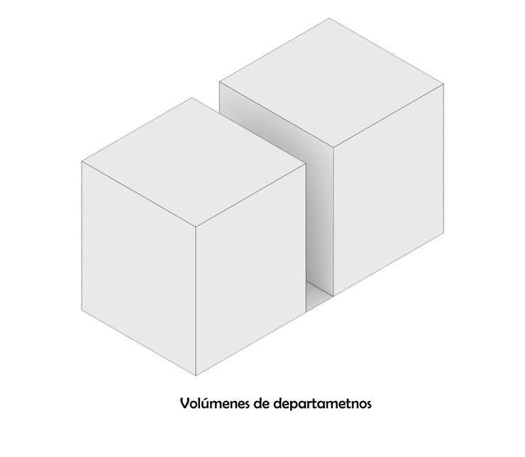Diagrama 2: Casas de estilo  por HMJ Arquitectura, Minimalista