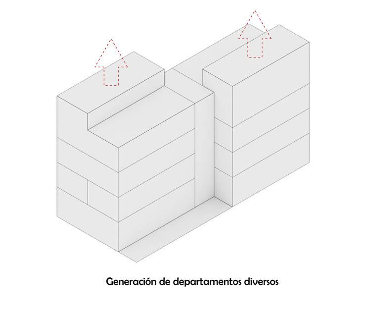 Diagrama 4: Casas de estilo  por HMJ Arquitectura, Minimalista
