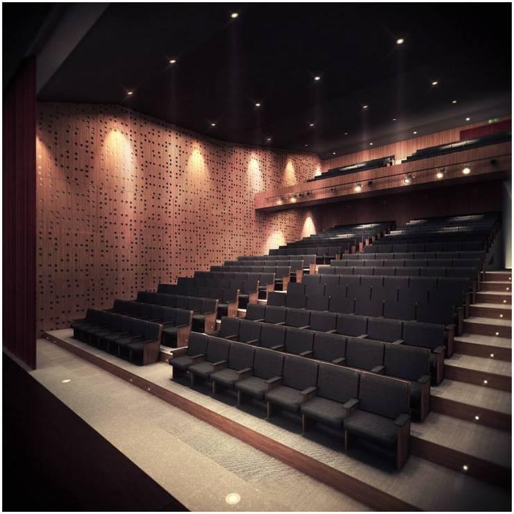 Ruang Multimedia oleh MV, Modern Kayu Wood effect