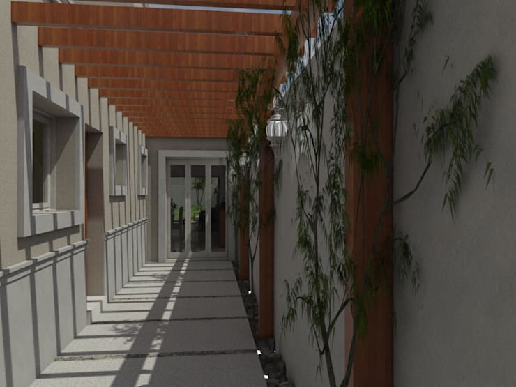 Acceso a Área Social:  de estilo  por Gastón Blanco Arquitecto