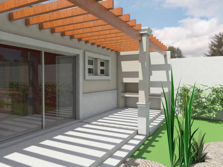 Fachada Posterior:  de estilo  por Gastón Blanco Arquitecto,