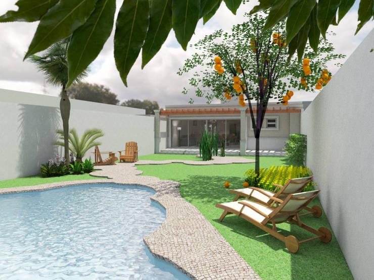 Jardín:  de estilo  por Gastón Blanco Arquitecto,