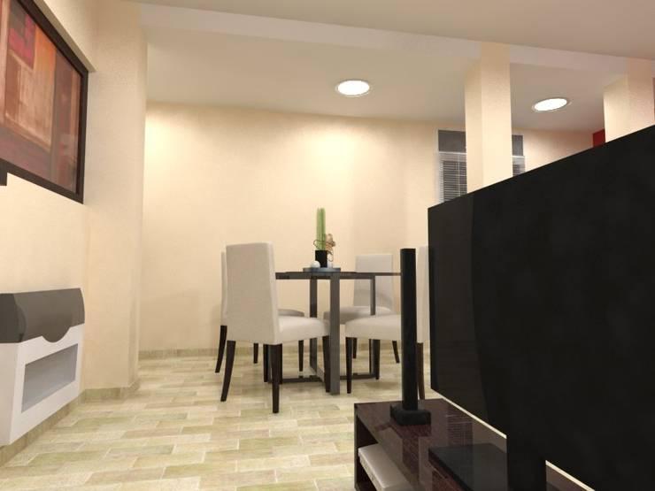 Quincho JB: Livings de estilo  por Gastón Blanco Arquitecto,