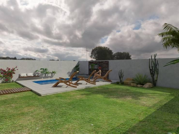 Vivienda JG: Jardines de estilo  por Gastón Blanco Arquitecto,