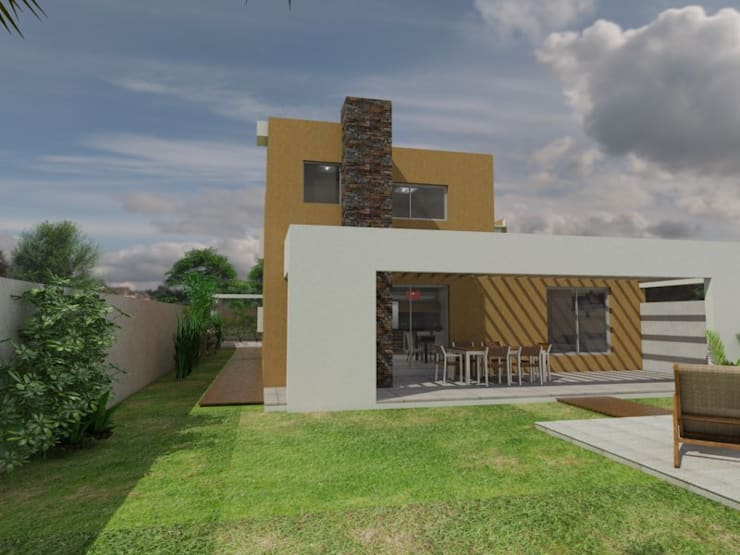 Vivienda JG: Casas de estilo  por Gastón Blanco Arquitecto,