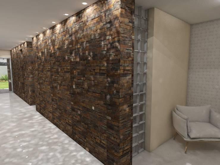 Vivienda JG: Pasillos y recibidores de estilo  por Gastón Blanco Arquitecto,