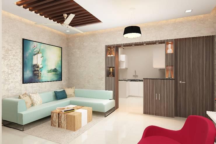 living room:  Living room by Neelanjan Gupto Design Co