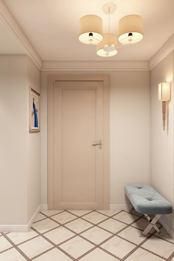 Scandinavian style corridor, hallway& stairs by Дизайн студия Алёны Чекалиной Scandinavian