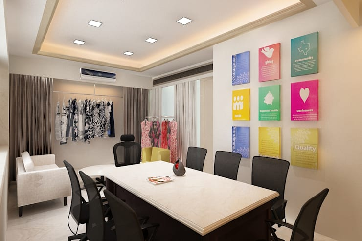 Conference room :  Study/office by Neelanjan Gupto Design Co
