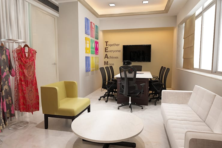 conference room:  Study/office by Neelanjan Gupto Design Co