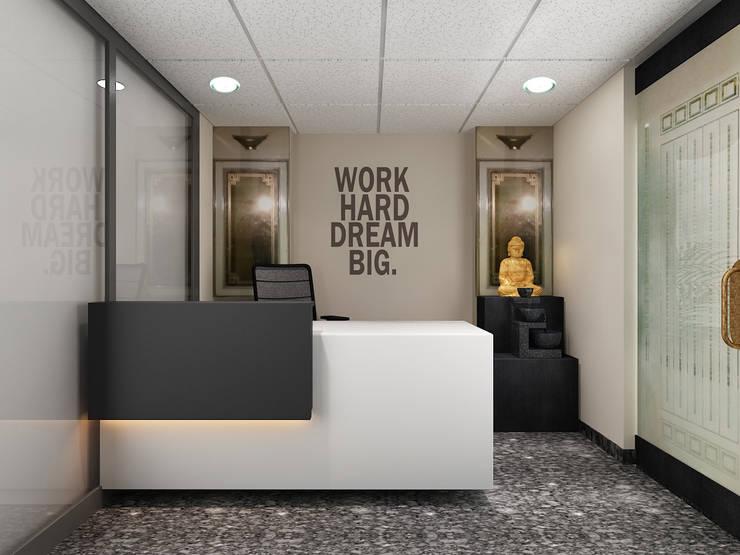 Study/office by Neelanjan Gupto Design Co