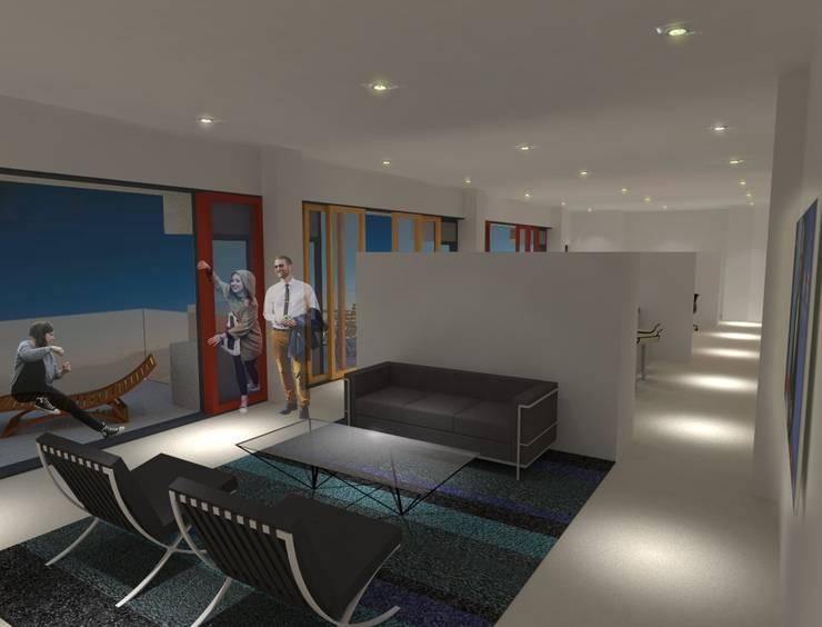 Interieur Woning 1:  Woonkamer door architectuurstudio Kristel