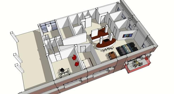 Impressie ontwerp woning 2:   door architectuurstudio Kristel