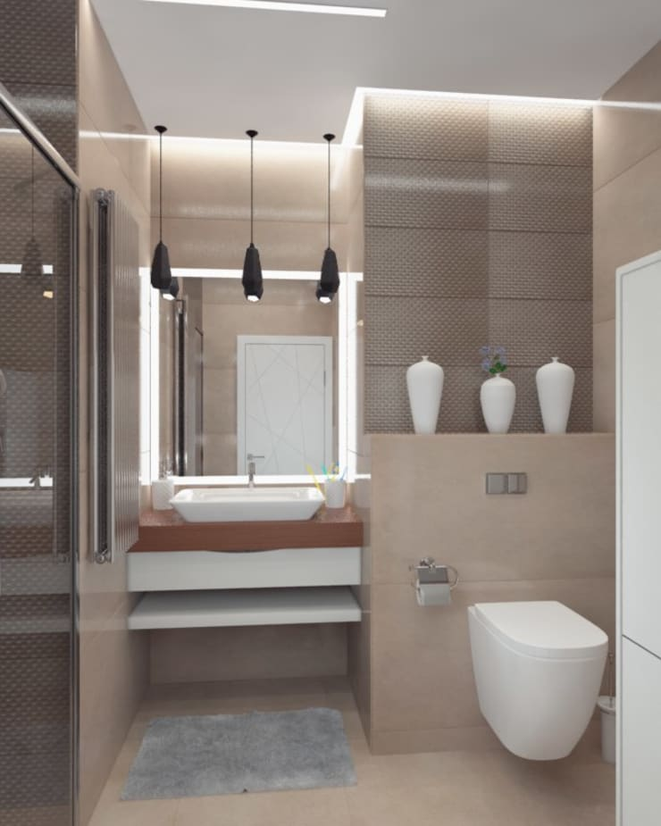 Bathroom by Anastasia Yakovleva design studio