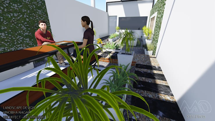 Roof Top Landscape:  Terrace by MAD Studios,Minimalist