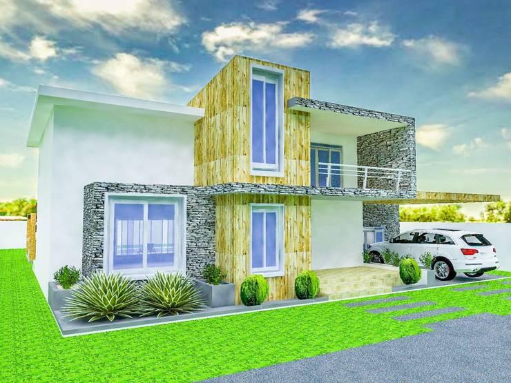 Casa A+: Casas de estilo minimalista por Arq. Gustavo García
