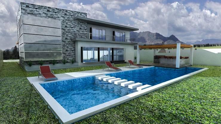 Casa A+: Casas de estilo  por Arq. Gustavo García