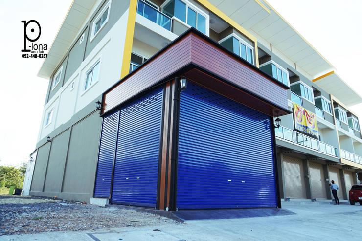 Garajes de estilo moderno de P-lona Moderno Hierro/Acero