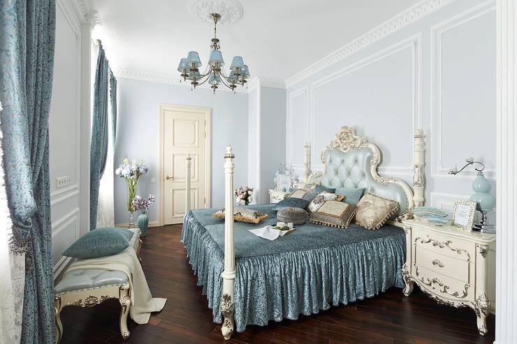 Квартира в ЖК «Континенталь» - Роскошный замок для троих: Спальни в . Автор – Вира-АртСтрой
