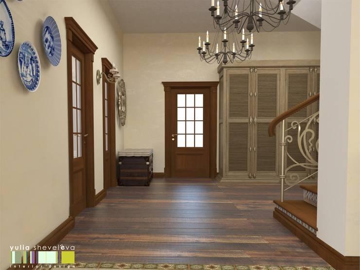 Classic style corridor, hallway and stairs by Мастерская интерьера Юлии Шевелевой Classic