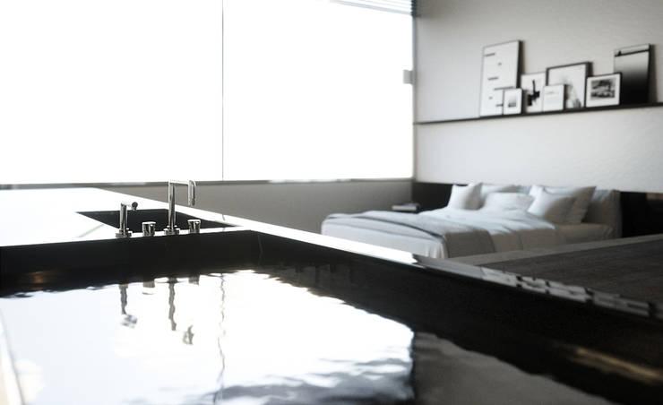 Smooth Warmth:  Slaapkamer door Deedemmers, Minimalistisch Marmer