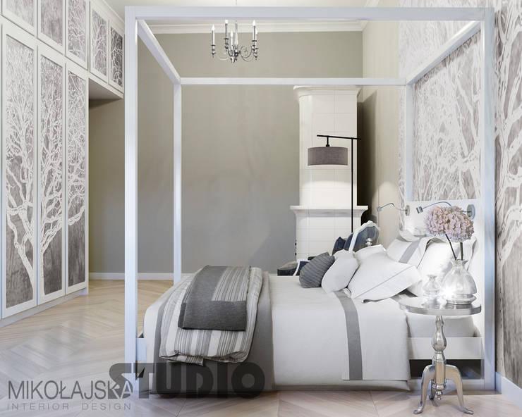 غرفة نوم تنفيذ MIKOLAJSKAstudio