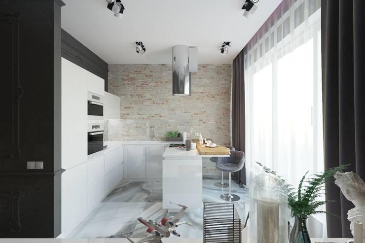 Дизайн проект студии в г.Ялта для молодой пары из Санкт-Питербурга: Кухни в . Автор – blackcat design