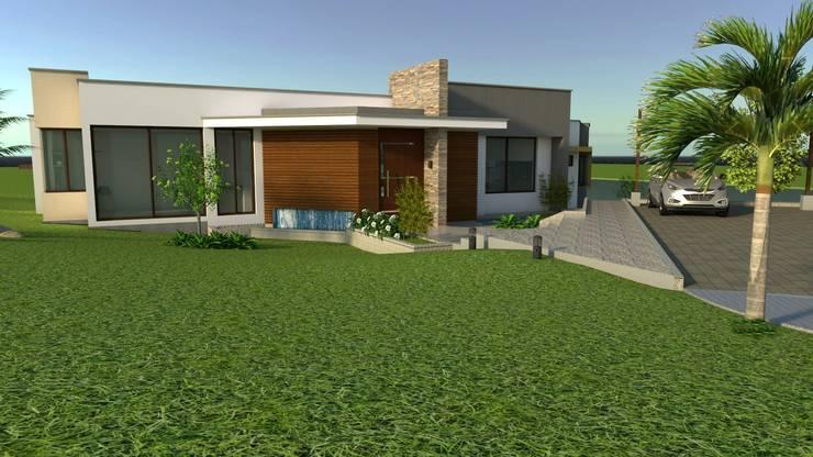 Fachada principal Casas modernas de Arquitecto Pablo Restrepo Moderno