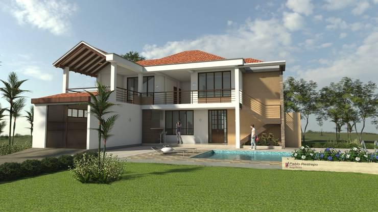 Fachada principal: Casas de estilo  por Arquitecto Pablo Restrepo