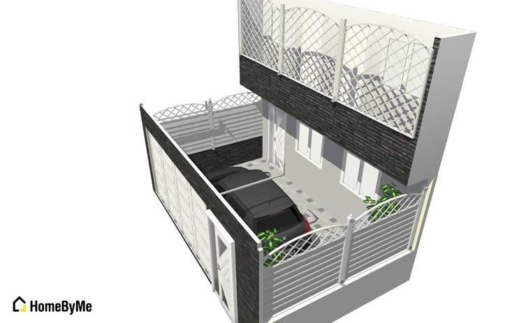 DISEÑO EN 3D PARA IDEA DE FACHADA EXTERIOR:  de estilo  por Mettox construcciones