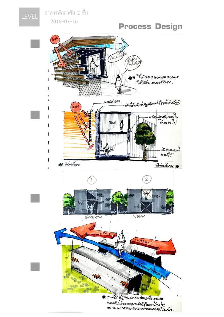 process design:  โรงรถและหลังคากันแดด by LEVEL ARCHITECT