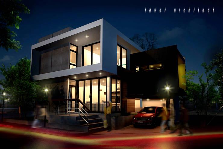 บ้านพักอาศัย 2 ชั้น ตลิ่งชัน:  บ้านและที่อยู่อาศัย by LEVEL ARCHITECT