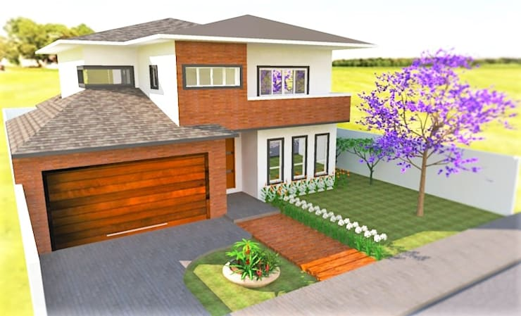 Projeto Residencial: Casas  por Gabriela Sgarbossa - Estúdio de Arquitetura,Clássico Derivados de madeira Transparente