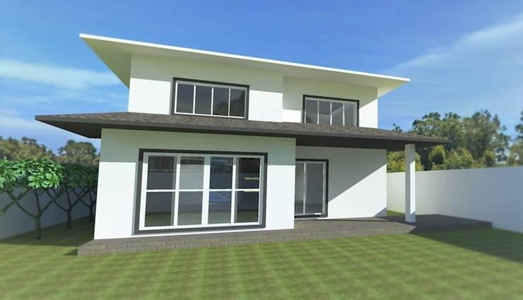 Projeto Residencial: Casas  por Gabriela Sgarbossa - Estúdio de Arquitetura,Clássico
