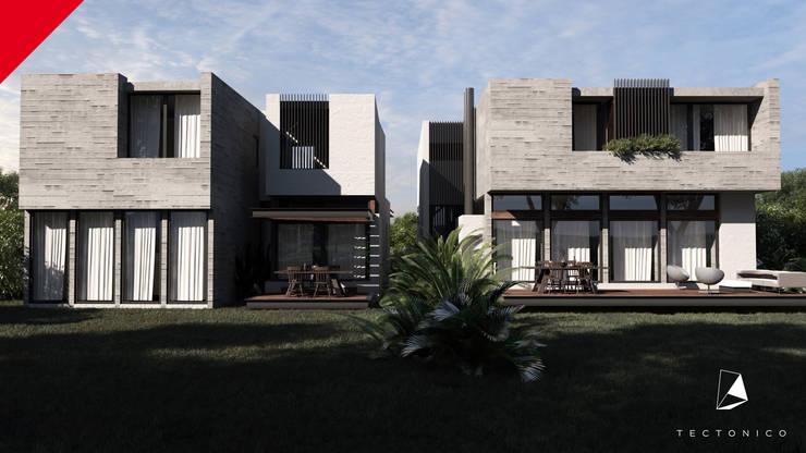 Casas Berlin Garambullo: Casas de estilo  por Tectónico