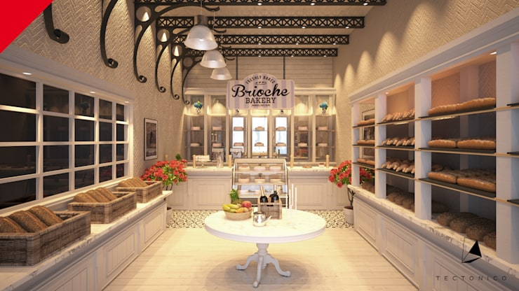 Brioche Bakery: Restaurantes de estilo  por Tectónico, Clásico
