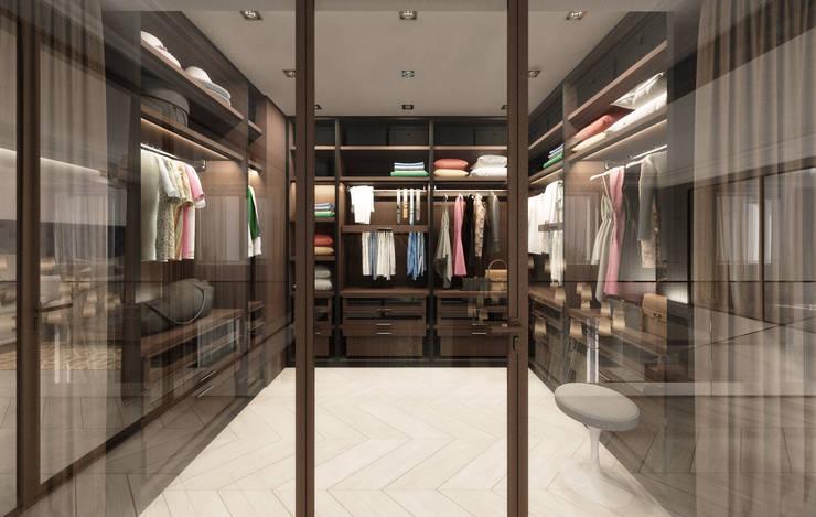 غرفة الملابس تنفيذ Студия дизайна интерьера в Москве 'Юдин и Новиков'