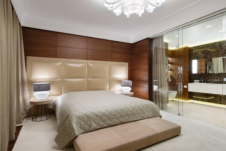 غرفة نوم تنفيذ Студия дизайна интерьера в Москве 'Юдин и Новиков'