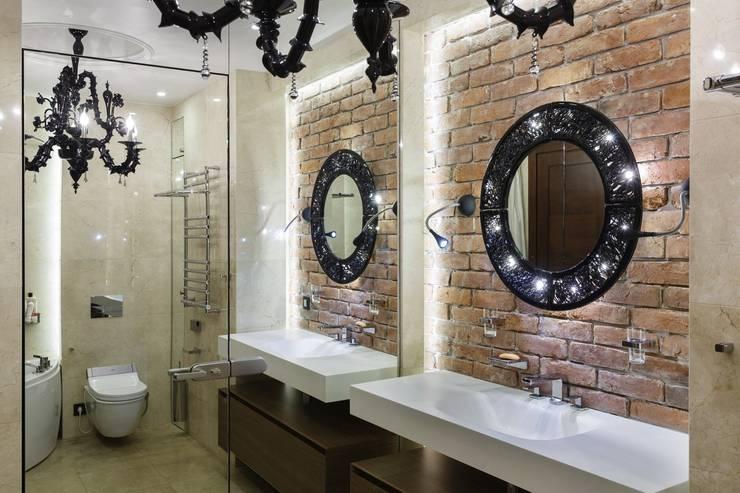 Baños de estilo  de Студия дизайна интерьера в Москве 'Юдин и Новиков', Moderno