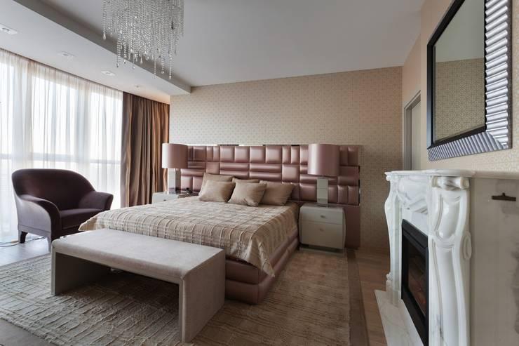 Chambre de style  par Студия дизайна интерьера в Москве 'Юдин и Новиков', Moderne