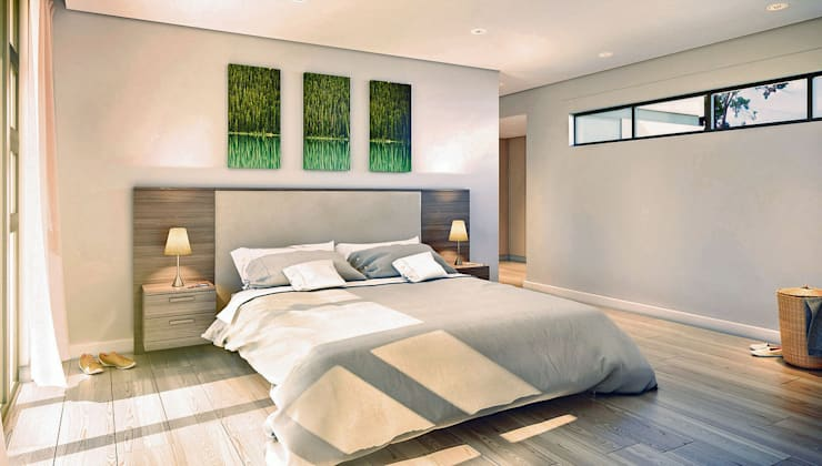 Bach Village—Monaghan Farm:  Bedroom by REIS