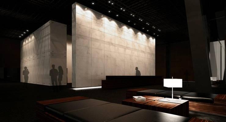Lobby:  de estilo  por Arq. Israel Caballero, Moderno