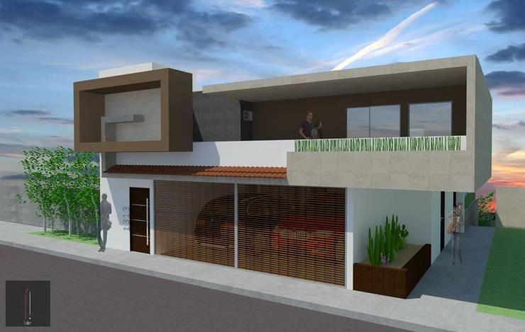 Fachada principal: Casas de estilo  por ..arquitecturería taller..