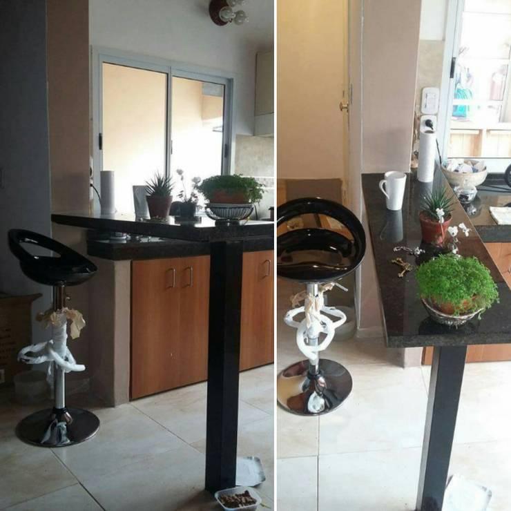 obras -refaccion y ampliación - decoración de interiores: Cocinas de estilo  por Ea Alejandra Alvarez construcciones ARQ & DECO,