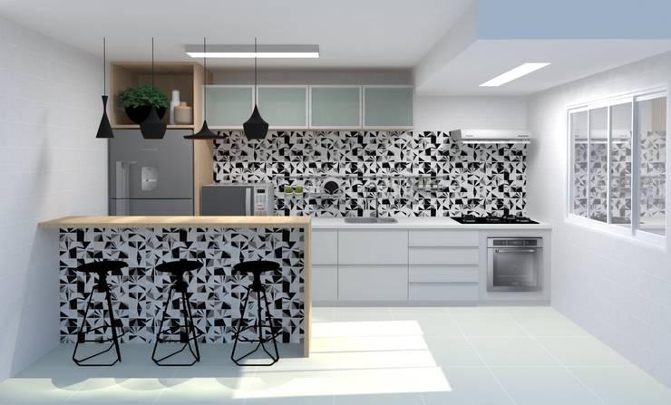Cozinha: Cozinhas  por Arquitetura em Cena