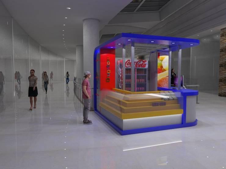 Drugstore: Oficinas y locales comerciales de estilo  por Gastón Blanco Arquitecto,