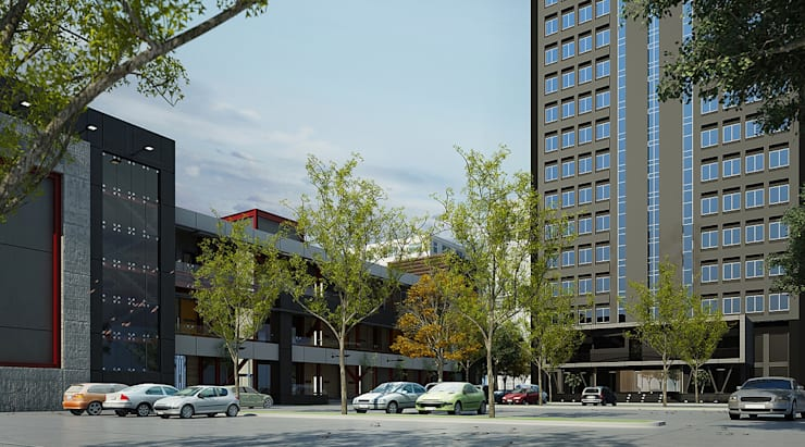 Renovate : Facade Tasniya Building:   by Dsire9 Studio